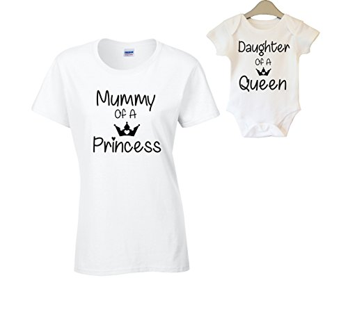 Kid/'s Gift Set with Kid/'s T-Shirt /& Daughter Of A Queen /& Mother To A Princess