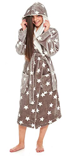 Slumber Hut® Ladies and Girls Matching Hooded Fleece Dressing Gown Luxury  Sherpa ... b6d70839d