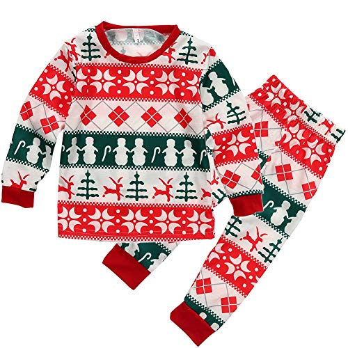 Family Matching Christmas Pajamas Set Men Women Toddler Kids Sleepwear Nightwear