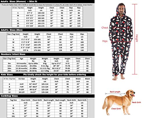 Babies Family Pajamas Matching Sets Dogs Kids Drop Seat Onesie Hooded Zip Up Flannel One Piece Pajama for Couples Cats